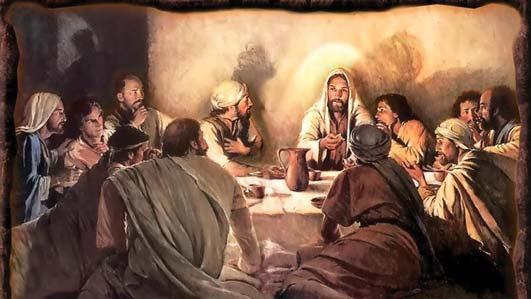 Джошуа со своими сподвижниками на «тайной вечере»...