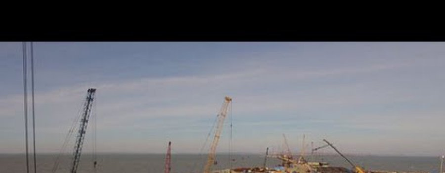 Уникальные кадры первого готового участка Керченского моста