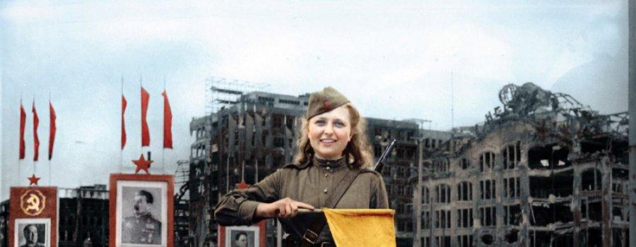 Герои Великой Отечественной войны в цветных фотографиях. (40 фото)